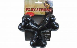Het Play Strong rubber Tri-Bot is speciaal ontwikkelt voor de sterkste kauwers. Het Play Strong speelgoed is gemaakt van heavy duty rubber, geschikt voor de sterkste honden. Dit bot blijft drijven en is daarmee ideaal te gebruiken bij het apporteren en bij waterspelletjes.