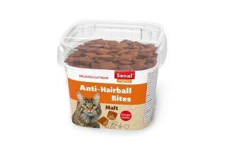 Sanal Bites anti-hairball zijn een heerlijke en gezonde snack voor uw kat. De snack heeft een knapperige buitenkant en een zachte binnenkant met malt vulling.