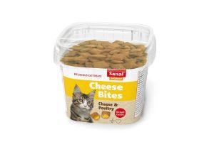 Sanal Bites cheese zijn een heerlijke en gezonde snack voor uw kat. De snack heeft een knapperige buitenkant en een zachte binnenkant met een kaas en gevogelte vulling.