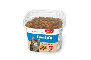 Sanal Denta's zijn een heerlijke, knapperige en gezonde snack voor uw kat. Helpt het gebit en het tandvlees te verzorgen.