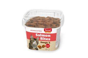 Sanal Salmon Bites zijn een heerlijke, knapperige en gezonde snack voor uw kat. Deze snack hebben een knapperige buitenkant met een zachte vulling van zalm.