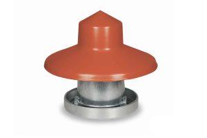 Deze Gaun kunststof regenkap beschermt het voer in je voersilo tegen de regen, ideaal voor de Gaun hangende metalen voerbak van 10 kilo.