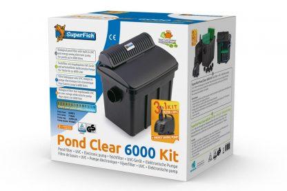 De Superfish Pond Clear Kit vijverfilter is een complete vijverfilterset met ingebouwde UVC en een krachtige elektronische vijverpomp met een zeer laag energieverbruik.