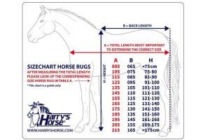 De Harry's Horse Outdoor deken Thor 0 grams met fleece voering is een waterdichte en ademende buitendeken zonder vulling. Deze deken tevens is naadloos op de rug.