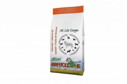 Farm Food HE Schotse Zalmolie pup/mini is hoogwaardige voeding voor uw hond.Tijdens diverse testen is gebleken dat een deel van de honden nog meer baat heeft bij FarmFood HE wanneer de gebruikte lijnzaadolie wordt vervangen door Schotse Zalmolie.