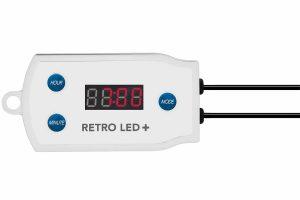 De Superfish Retro LED+ controller schakelt de verlichting automatisch aan en uit op de gewenste tijden. Deze controller voor Retro LED verlichting stimuleert zowel zonopkomst als zonsondergang.