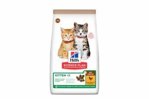 Hill's Science Plan No Grain Kitten Kip is een speciaal ontwikkeld droogvoer zonder gluten en granen. Door de heerlijke smaak en een optimaal voedingsstofgehalte is deze voeding perfect voor een gezonde start van het leven van uw kitten. Het droogvoer wordt bereidt met veel kip, naast de lekkere smaak is dit is een bron van hoogwaardige eiwitten. Daarnaast bevat het compleetvoer van Hill's een afgestemde mix van mineralen en DHA uit visolie.
