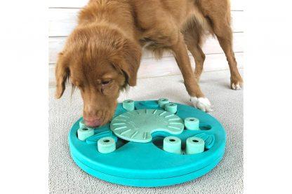 De Nina Ottosson Dog worker hondenpuzzel biedt mentale uitdaging voor honden. Het zelf oplossen van puzzels geeft een hond namelijk meer zelfvertrouwen. Samen met jouw hond denkspelletjes doen ondersteunt de band, waardoor deze nog sterker wordt.