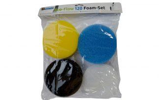 De Superfish Eco-Flow 120 Foam-set is een complete filterschuim-set voor de Eco-Flow 120 filter. Het wordt tevens aangeraden om het schuim elke 2 à 3 maanden te vervangen voor de beste resultaten.