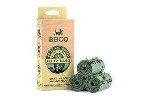 De Beco Bags compostable zijn biologisch afbreekbare en composteerbare poepzakjes. Deze zakjes verschillen van de normale Beco Bags omdat zij thuis compostbaar zijn. Verder zijn deze zakjes geschikt voor de meeste dispensers. Een milieuvriendelijke oplossing draagt bij aan een gezond ecosysteem. Deze zakjes breken snel af en laten geen schadelijke stoffen achter.