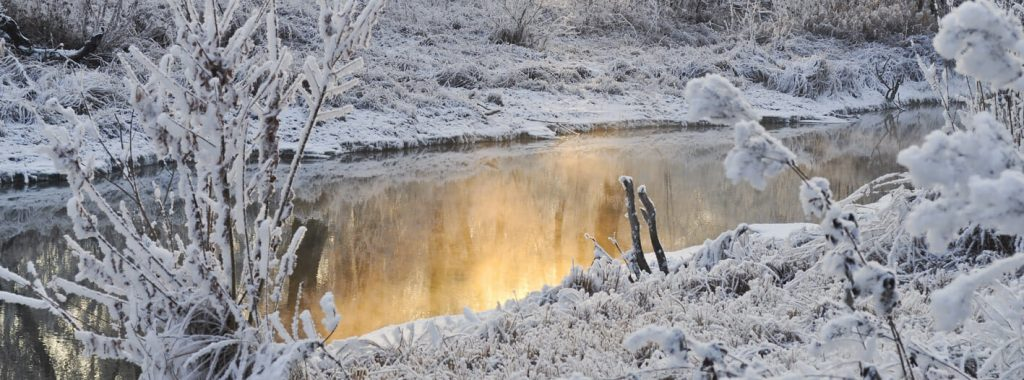 De vijver in leven houden gedurende de winter