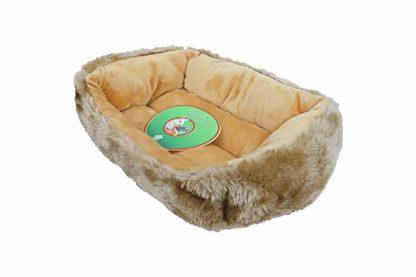De Knaagdierdivan is gemaakt van zeer zacht materiaal en ligt daardoor erg lekker. Ideaal voor in het binnenverblijf of in de buitenren.
