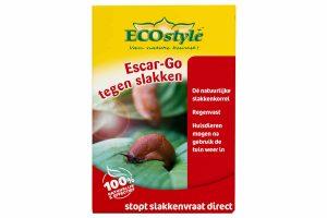 Ecostyle Escar-Go stopt direct slakkenvraat in de tuin. Het is een 100% natuurlijk product in korrelvorm om slakken te bestrijden.Wanneer de slakken van Escar-Go eten, zal dit onmiddellijk tot vraatstop leiden. De slak trekt zich terug in zijn schuilplaats en keert niet meer terug.