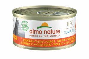 Almo Nature HFC Complete - Kip met wortels is een heerlijke natvoeding volgens het bekende en traditionele receptuur van Almo Nature.