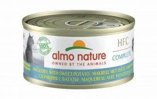 Almo Nature HFC Complete - Makreel met zoete aardappel is een heerlijke natvoeding volgens het bekende en traditionele receptuur van Almo Nature.