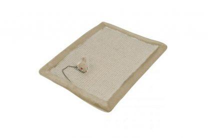Deze EBI Comfort krabmat is gemaakt van zeer robuust sisal. Daarbij is deze krabmat voorzien van een leuke pluche speelmuis.