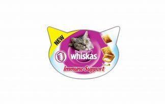 Whiskas Immune Support is een heerlijke snack voor uw kat met omega-3 en -6 vetzuren, daarmee ondersteunt u de gezonde huid en vacht.