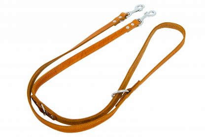 De Jack & Vanilla dressuurlijnen zijn zeer soepel en sterk. Gemaakt van gevet leder, waardoor ze ook soepel blijven. Het voordeel van dressuurlijn is, dat u deze op lijn op drie verschillende lengtes kan instellen.