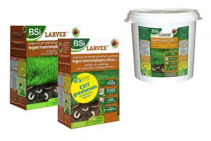 Larvex zorgt voor optimale gezondheid en weerstand van uw gazon tegen insectenplagen. Speciale voedingsstoffen zorgen ervoor dat onder andere engerlingen, emelten en andere bodeminsecten geen kans maken.