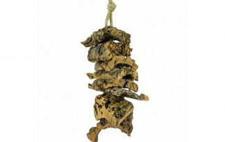Back Zoo Nature Corky Shredding tower is 100 % natuurlijk speelgoed dat uw kromsnavel, of parkiet kan slopen.