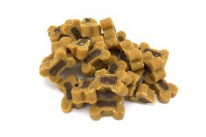 Hondensnoepjes Soft Bone Wild en Kip zijn zachte kleine beloningssnoepjes voor je hond in een hersluitbare pot. De trainers zijn op basis van wild en kip.