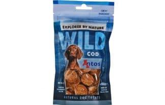 De Antos WILD Kabeljauw van 80 gram is een lekkere, 100% natuurlijk hondensnack. Deze snack is glutenvrij, suikervrij, graanvrij en zit boordevol proteïnen.