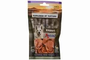 De Antos WILD Konijn van 80 gram is een lekkere, 100% natuurlijk hondensnack. Deze snack is glutenvrij, suikervrij, graanvrij en zit boordevol proteïnen.