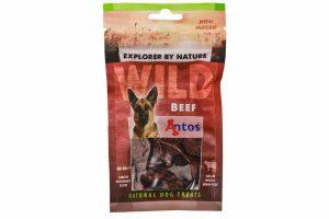 De Antos WILD Rund van 80 gram is een lekkere, 100% natuurlijk hondensnack. Deze snack is glutenvrij, suikervrij, graanvrij en zit boordevol proteïnen.