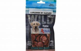 De Antos WILD Tonijn van 80 gram is een lekkere, 100% natuurlijk hondensnack. Deze snack is glutenvrij, suikervrij, graanvrij en zit boordevol proteïnen.