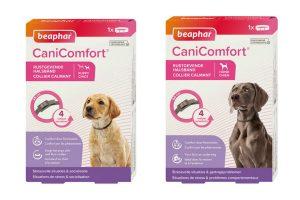 De Beaphar CaniComfort rustgevende halsband die kan ondersteunen bij stressvolle momenten. Situaties zoals een verhuizing, nieuw jaar, een ritje met de auto of een bezoek aan de dierenarts kunnen voor sommige honden enorm stressvol zijn