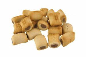 Het Excellent Mini mergkoekje is een heerlijk hondenkoekje wat gegeven kan worden als lekkernij of als beloning. Deze mergkoekjes worden verkocht in een verpakking van 10 kg. De mergkoekjes bevatten granen, vlees en dierlijke bijproducten, oliën en vetten, plantaardige bijproducten, mineralen en suikers.
