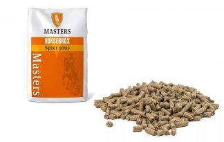 De Masters Spier-Plus paardenvoeding is ontwikkeld voor paarden die ondersteuning nodig hebben in de spieropbouw. Deze paardenvoeding is opgebouwd uit organisch gebonden sporenelementen in combinatie met specifieke aminozuren.