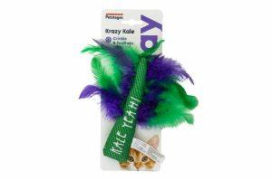 Het Petstages kattenspeelgoed Krazy Kale is gemaakt van mesh-materiaal. Wanneer uw kat heerlijk gaat bijten en spelen zorgt het voor een flossende en reinigende werken, waardoor uw kat een gezond gebit behoudt.