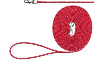 De Trixie Junior puppy sleeplijn is een rond geweven touw met handlus. Door de reflecterende elementen op de riem, bent u zeer goed te zien met uw pup in het donker.