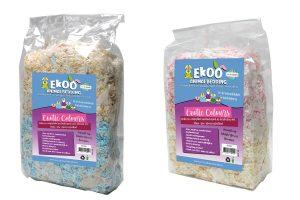 Het Ekoo Exotic Colours & Teabags nestmateriaal is een zacht, veilig en comfortabel product. Dit nestmateriaal is gemaakt babykleertjes (90%) en theezakjes (10%) en het is zacht en comfortabel nestmateriaal voor knaagdieren.