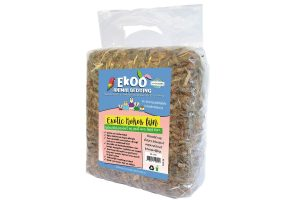 De Ekoo Exotic Kokos fijn bodembedekker is een natuurlijk product en gaat zeer lang mee. Deze bodembedekker is gemaakt van stukjes kokosnoot (80%) aangevuld met kokosnootvezel (20%).