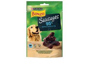 De Bonzo Sausages zijn kleine, super lekker snacks voor uw trouwe viervoeter. Uw hond zal dit verrukkelijk vinden, doordat deze meatballs rijk aan varken zijn.