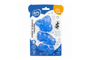 De Duvo+ Chew'n Snack Twister is een makkelijke en vooral leuke manier voor uw hond zijn tanden te onderhouden. De speelse vorm en verschillende texturen stimuleren de speekselvorming, ondersteunen de verzorging van het gebit en versterkt de kaakspieren.