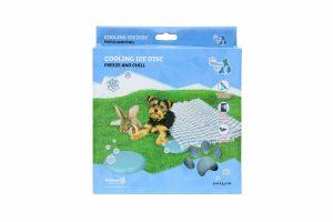 De CoolPets Ice Disc zorgt voor een koelere omgeving van uw huisdier. Wanneer u de schijf even in de vriezer gelegd hebt, kan hij meteen in het verblijf van het dier worden geplaatst. Als hij bevroren is, zorgt het voor verkoeling van het dier.