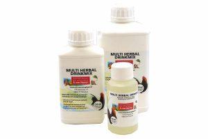 De Huismerk Multi Herbal drinkmix is een aanvullende diervoeder voor alle vogelsoorten. Deze drinkmix stimuleert het immuunsysteem van de vogel en werkt ook tegen bloedluis.