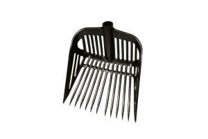 De Kerbl kunststof hooivork is inclusief stevige steel. De hooivork is voorzien van 13 stevige tanden met een randversterking, zodat u eenvoudig veel werk kan verrichten.