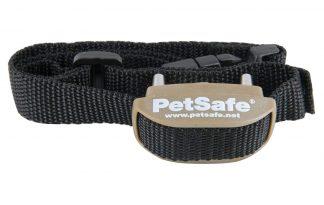 De PetSafe Pawz Away trainingshalsband zendt een elliptisch radiosignaal uit. Dit signaal kan worden afgesteld tot op een straal van 0,76 meter. Uw huisdier draagt een ontvangerhalsband met contactpunten die de hals aanraken.