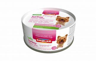 De Smolke Soft Pate kalkoen is een verrukkelijke maaltijd. Het heeft een zachte bite en verse superfood ingrediënten. Het is de daarom perfecte verwennerij voor uw hond.