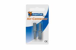De Superfish Air Connector is gemaakt van kunststof. De connector is eenvoudig te monteren tussen een gewapende luchtslang en een normale luchtslang.