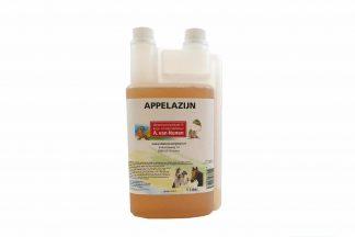 Appelazijn is een voedermiddel voor paarden, pluimvee en vogels. Het dient tevens ook als vachtproduct voor honden, doordat het natuurlijk enzymen bevat.
