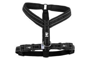 Het Hurtta Gevoerd Y-tuig zwart zijn gevoerde tuigen die zeer duurzaam zijn. Voorzien van reflectielijnen. De borst van de tuigen is verstelbaar, zodat deze goed aansluit op de grootte van uw hond.