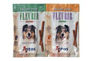 De Antos Soft Sticks Fleurir Kip is een ideale beloning om te gebruiken tijdens trainingen, doordat ze zacht zijn en eenvoudig in kleine stukjes te breken. Daarnaast is de snack gluten-, graan- en suikervrij.