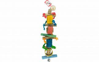 Birrdeeez Jumbo Macaw Parrot vogelspeelgoed is een kleurrijk houten speeltje voor papegaaien.