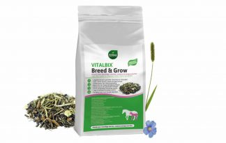 De Vitalbix Breed & Grow is een unieke en vezelrijke muesli. Hij is samengesteld volgens de laatste inzichten op het gebied van voeding voor drachtige merries, veulens, jonge paarden (t/m 3 jaar) en dekhengsten.