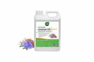 Vitalbix Linseed Oil + Vitamine E bevat circa 58% gezonde omega-3 vetzuren. Dankzij het hoge aandeel vetzuren brengt de olie de omega verhouding in balans.